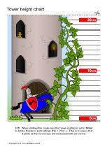 Sparklebox Height Chart Tower Childrens Height Chart Sb8991 Sparklebox