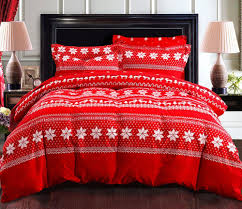 Christmas Bedding Sets In Classy Hot Red Valentine Queen Bed Sheet ... & Classy Hot Red Valentine Queen Bed Sheet Hexagonal Snowflake Pattern  Comforter For Decorative Pillow Covers Reindeer Adamdwight.com