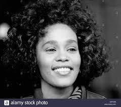whitney black white. Contemporary Black Music  Whitney Houston Stock Image Inside Black White