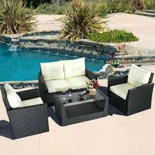 Outdoor Wicker Furniture Cushions Sets Patio Set Indoor L Shaped