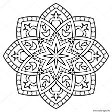 Dessin Mandala Facile Coloriage Gratuit A Imprimerl L