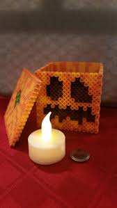 17 best ideas about hama beads minecraft minecraft i love it so much it comes an electronic tea light so it makes a great decoration or even a nightlight minecraft perler pumpkin