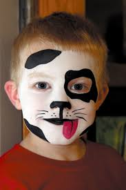 makeup boys kid cute black white puppy