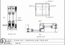 excellent door section sliding door section dwg saudireiki