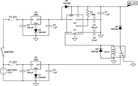 power supply shutdown controller for raspberry pi in a car schematic
