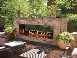 empire outdoor linear see through fireplace 48