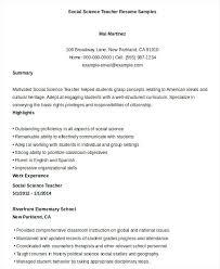 Science Teacher Resume Template Best of Sample Resume Teachers Printable Social Science Teacher Resume
