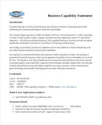 8+ Capability Statement Examples, Samples