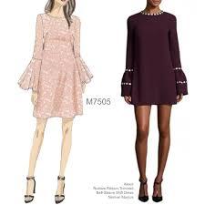 Bell Sleeve Dress Pattern