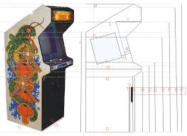 mame arcade cabinet plans pdf beste awesome inspiration