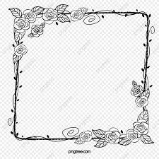 無料ダウンロードのための黒薔薇角 枠 黒い ローズ角png画像素材