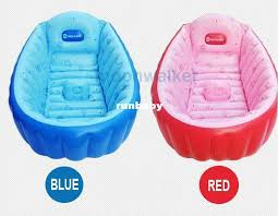2019 inhand summer portable baby kid toddler inflatable bathtub newborn thick blue and red bath tub banera bebe from runbaby 40 8 dhgate com