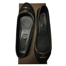 louis vuitton ballet flats ballet flats leather black ref 64963