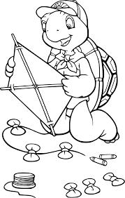 Coloriage Franklin Avec Son Cerf Volant Imprimer Sur Coloriages Info
