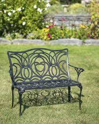black iron outdoor furniture. Tulip Bench Black Iron Outdoor Furniture