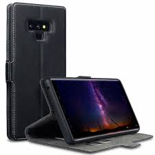 terrapin samsung note 9 case samsung galaxy note 9 leather case wallet flip cover ultra slim fit viewing stand card slots black on on