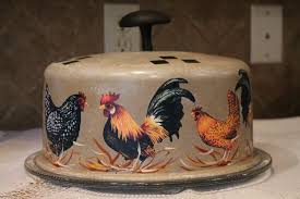 rooster kitchen accessories cake covered