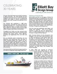 Elliott Bay Design Group Elliott Bay Design Group Celebrates 30 Years In Business