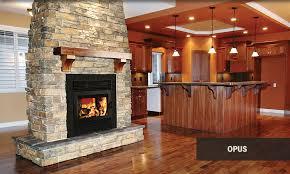 supreme opus see through wood burning fireplace