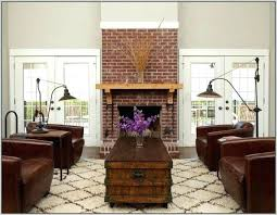 modern living room with brick fireplace. Red Brick Fireplace Living Room Medium Size Of Paint Ideas Painting Modern With E