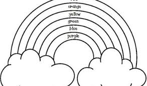 Small Picture Coloring Page Rainbow Coloring Page With Color Words Coloring