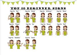 Baby Sign Language Chart For Beginner 001 Printable