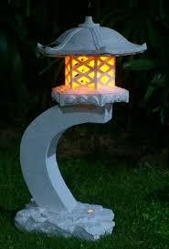 Outdoor Lighting Japanese Lanterns Tiaan 24 Height Japanese Style Lantern Solar Garden Lamp