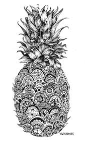 pineapple tumblr drawing. pineapple-zentangle-black-and-white-pen-drawing-prints. pineapple tumblr drawing