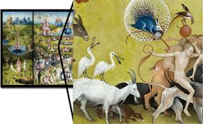 garden of earthly delights poster. Blow-up Of Large Piece Garden Earthly Delights Poster C