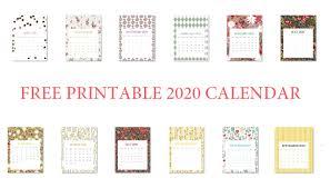 Calendars 2020 Free Free Printable 2020 Calendar Calendar 2020