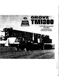 Grove 130 Ton Crane Load Chart Grove Tm1300 Cranepedia