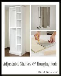 the build basic custom closet system adjule shelves and hanging rods display frame