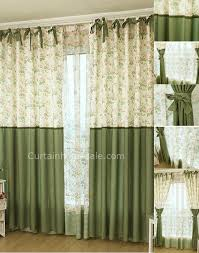 fancy past flowers and leaf printed eco friendly door side window curtains