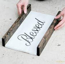 making a frame for a wooden sign is easy