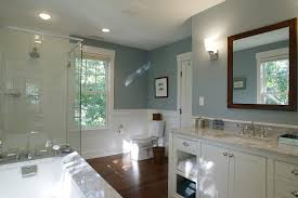 bathroom remodel boston. Mid Sized Traditional Master Doorless Shower Idea In Boston With White Cabinets An Undermount Bathroom Remodel
