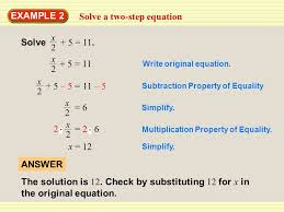 4 solve a two step equation