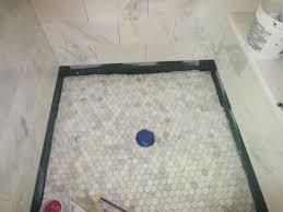 marble carrara tile bathroom part 5 installing the shower floor you