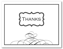 Printable Black And White Thank You Card Template