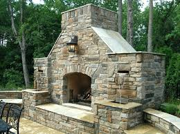 outdoor stone fireplaces stacked stone outdoor fireplace designs