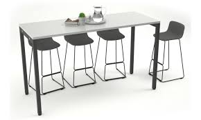 office kitchen furniture. Counter Height Office Cafeteria / Bar Table - Black Leg 5 Kitchen Furniture