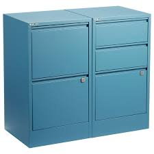 Bisley Blue 2 3 Drawer Locking Filing Cabinets The Container Store