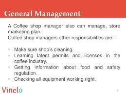 Coffee Shop Manager Job Description Duties Salary