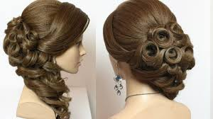 Wedding Bridal Hairstyle bridal hairstyle with curls for long hair tutorial youtube 2693 by stevesalt.us