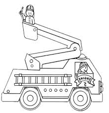 Drawing Pages Firetruck Coloring Pages Bitslice Me