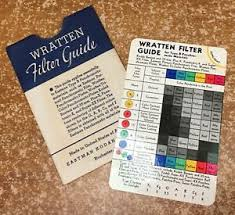 Wratten Filter Chart Details About Vintage Wratten Filter Guide From Eastman Kodak Company Copyright 1938