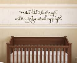 biblical wall decals nursery wall decal for this child i have prayed vinyl wall decal quote on christian vinyl wall art quotes with wall decal biblical wall decals ideas scripture wall decals quotes