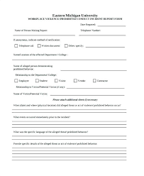 Bar Incident Report Template Free General Form Word Format