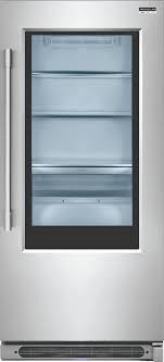 ft glass door all refrigerator stainless steel