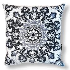 pillow case grey oriental pillow
