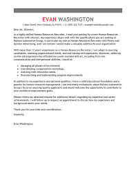 Amazing Human Resources Cover Letter Examples Templates From Trust